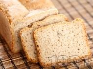 Рецепта Вкусен пълнозърнест хляб за хлебопекарна с ядки